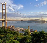 Western Shoreline of Hong Kong and Tsing Ma Bridge Cruise