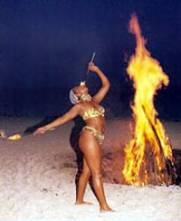 Bonfire on the Beach Bahamas Style