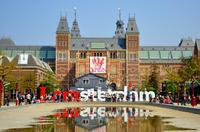 반 고흐 박물관 및 암스테르담 국립 박물관 투어를 포함하여 암스테르담 운하 런치 크루즈 : 라인을 건너 뛰기